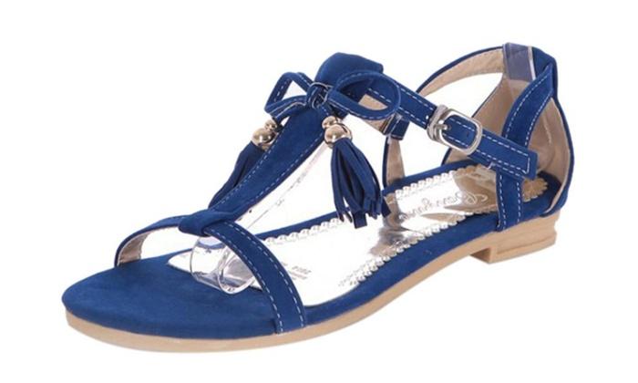 Women's Sweetly Fringe Flat Sandal