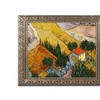 Van Gogh 'Landscape with House' Ornate Framed Art