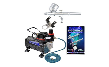 Master Airbrush Multi-purpose Gravity Feed Dual-action Airbrush Kit 54ca5bab-059a-430b-b01a-f183107a3264