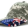 US Flag with Fighting Soldier Silhouette Baseball Cap Digital Camo