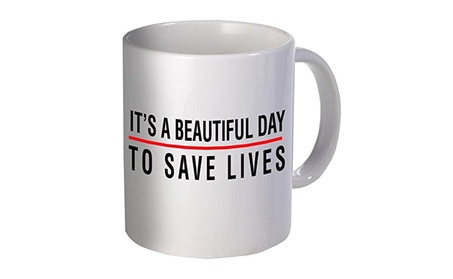 It's A Beautiful Day To Save Lives Doctor Coffee Mug c47694ba-fd5c-4d38-8020-316b540a9897