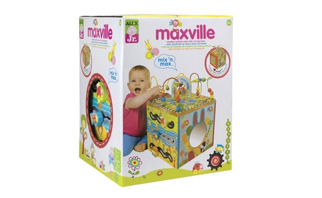 ALEX Jr. Maxville Wooden Activity Cube 9448f909-a8c3-4bb2-a57e-0acf36ffe263