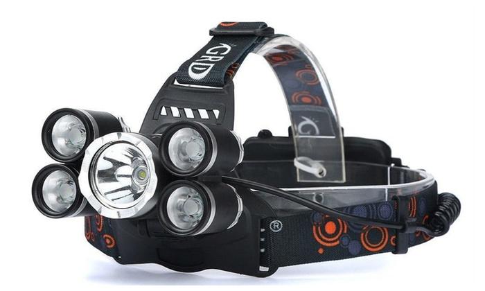 Battery 80000LM 2X XM-L T6 Headlamp Rechargeable LED Headlight Head Light USB