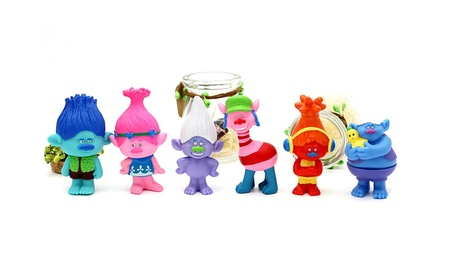 6Pcs Cute Trolls Doll Anime Model Set PVC Troll Toy Action Figures Toy a86ff65b-8472-425b-b42d-6345db1c260c