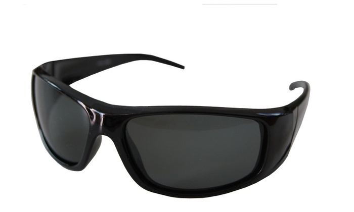Andevan 100% UV Polarized Floating Sunglasses Black Frm & Pouch #06