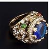 Royal Emerald Green Or Sapphire Blue Semi Precious Antique Ring