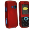 Insten Snap-on Rubber Coated Case For LG Cosmos VN250, Red