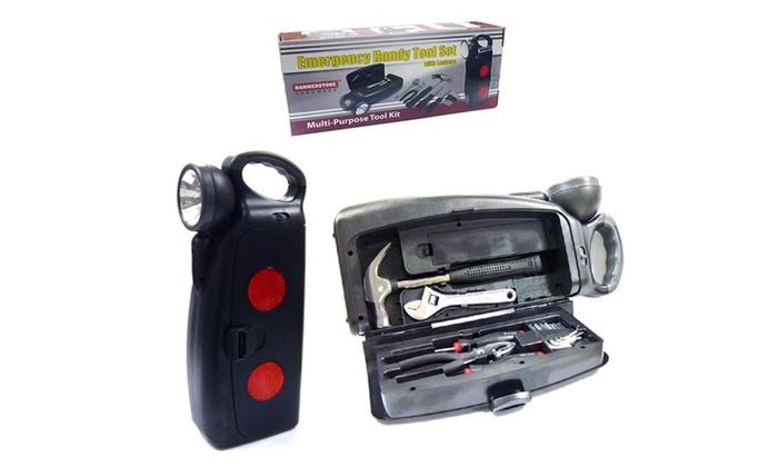 Buy It Now : Emergency Tool Kit w/ Flashlight One Handy Set For All