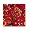 Raindrops on Red At Canvas Print