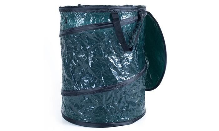 Collapsible utility bin garbage can with lid camping leaves more groupon - Collapsible trash bins ...