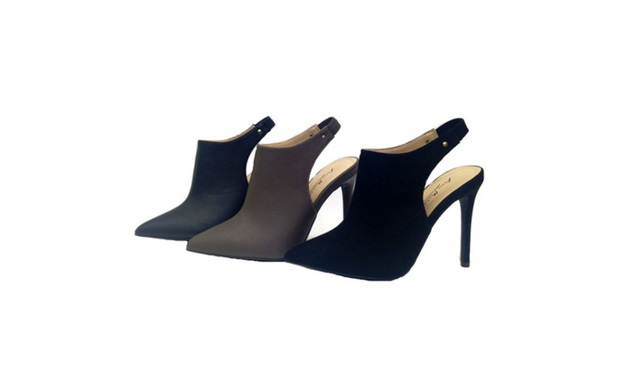 RISEUP-06 Pointed Toe Stiletto Heel Sling Back Dress Pump