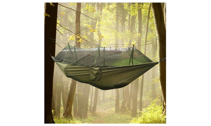 doremo  2 person parachute hammock with built in mosquito   and carry pouch     2 person parachute hammock with built in mosquito   and carry      rh   groupon