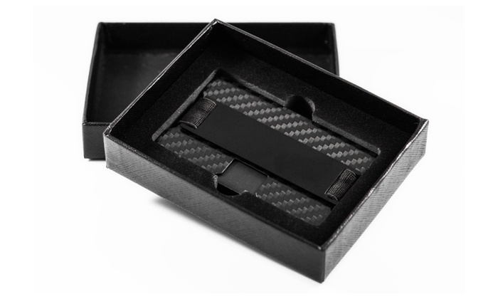 cc2ec1da77a6 Carbon Fiber Luxury Minimalist rfid Blocking Mens Wallet | Groupon
