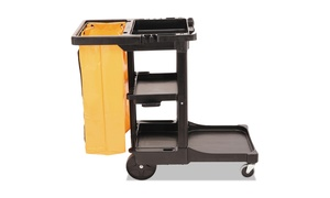 Rubbermaid Commercial Multi-Shelf Cleaning Cart, Three-Shelf