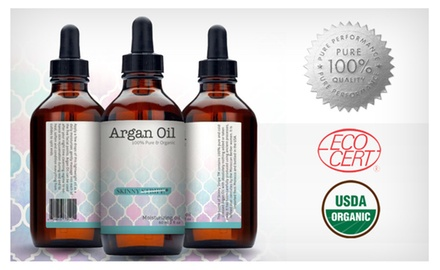 Pure Moroccan Argan Oil from SkinnyStripe (USDA Certified, Eco Cert)
