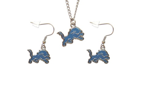 Detroit Lions Necklace and Dangle Earring Charm Set 7d4cd12b-e7df-41ee-9893-bf0da8a8b8dd