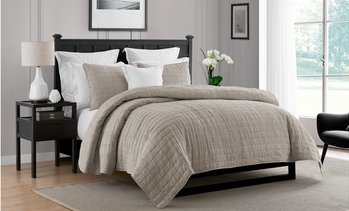 Luxury Home Deluxe Enzyme Crinkle Quilt Coverlet Set (2- or 3-Piece)