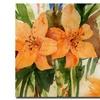 Sheila Golden 'Tiger Lilies' Canvas Art