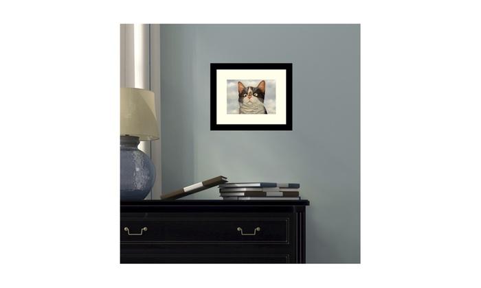 ... Groupon Goods: Framed Art Print U0027Hugo Hege Cat And Butterflyu0027 By Lowell  Herrero