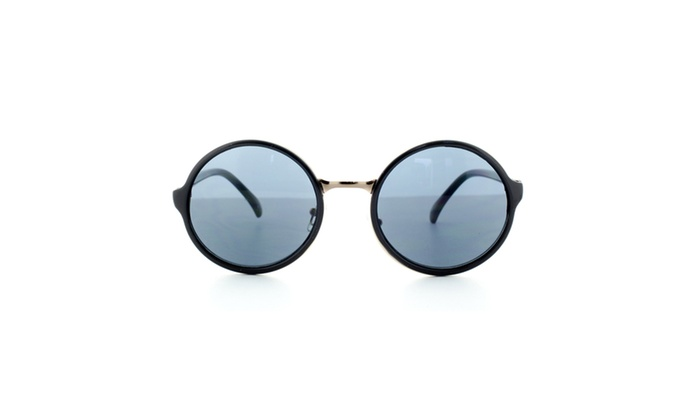 MLC EYEWEAR Sleek Stylish Retro Round Frame Sunglasses