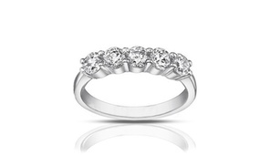 1.25 Ct Ladies Round Cut Diamond Wedding Band Ring