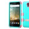 Insten Hard Dual Layer Silicone Case stand For ZTE Prestige Blue Pink