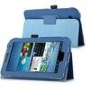 Insten Blue Folio PU Leather Case Stand For Samsung Galaxy Tab 2 7.0
