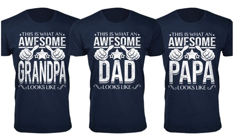 Men's Awesome Dad Grandpa Themed T-Shirt