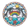 Melissa Doug Stained Glass - Dolphins 9291