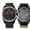 Balmer Veyron Chronograph Mens Watch Black/Rose Gold/Black
