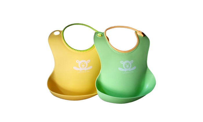 2 Pack Baby Bibs  Best Silicone fae8112c2dcb