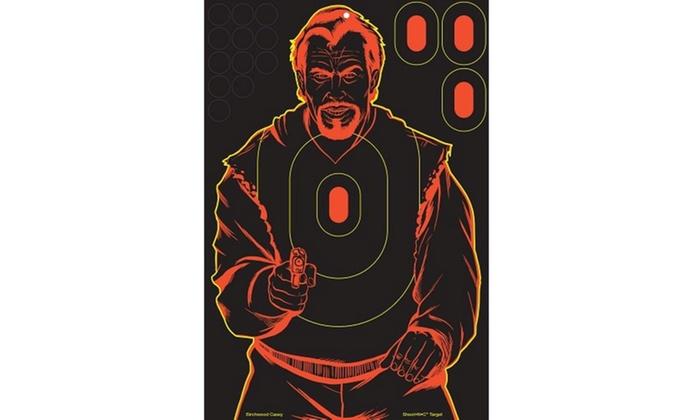 Birchwood Casey Shoot-NC Bad Guy 12x18 Silhouette Target 5pk