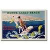 Georges Goursat 'Monte Carlo Beach 1932' Canvas Art