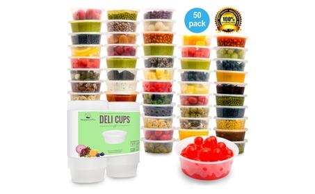 Leakproof Plastic Food Storage Container with Lid 50pk c5c89453-fad8-44f0-afc6-1af0d2328c87
