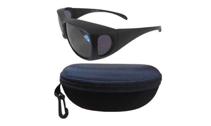 Andevan 100% UV Polarized Cove Over Sunglasses Size L+Fit Case