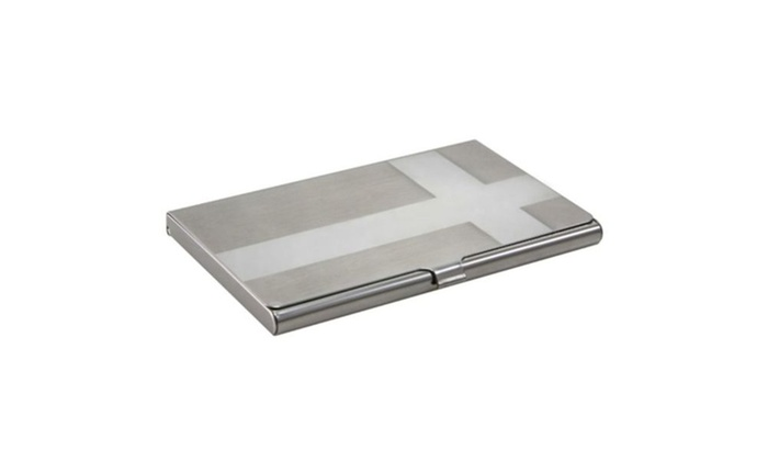 Zodaca silver metal business name id credit card holder wallet case colourmoves