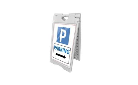 "22""x28"" A-Frame Plastic Pavement Sidewalk Sandwich Advertising Board 36fb9caa-b52c-4944-af9b-9d1d36f8e480"
