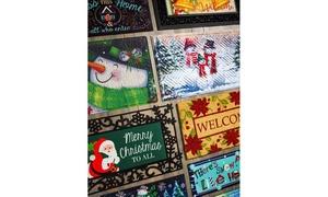"""Winter Holiday Sassafras 10""""x22"""" Rubber Switch Mats"""