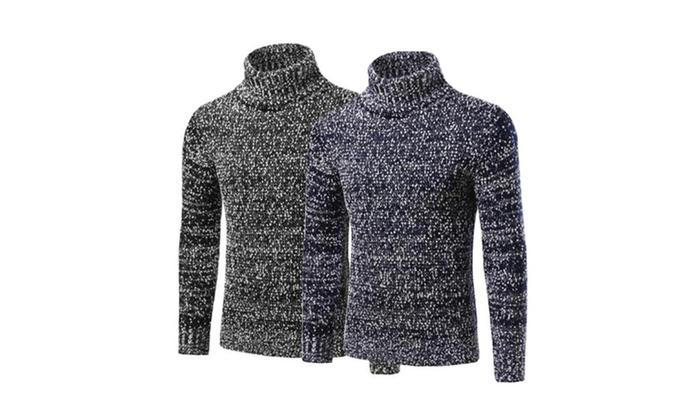 f2c4e5e834f03 Mens Casual Turtleneck Slim Fit Pullover Sweaters