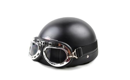 Open Face Vintage Motorcycle Riding Helmet 12b01041-7f61-4ec8-93de-c63ba2e9c022