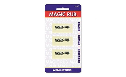 Sanford Magic Rub Eraser, 3 pack (70503)
