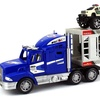 Off Road Police Transport Trailer 1:32 Kid's Friction Truck (Colors May Vary)