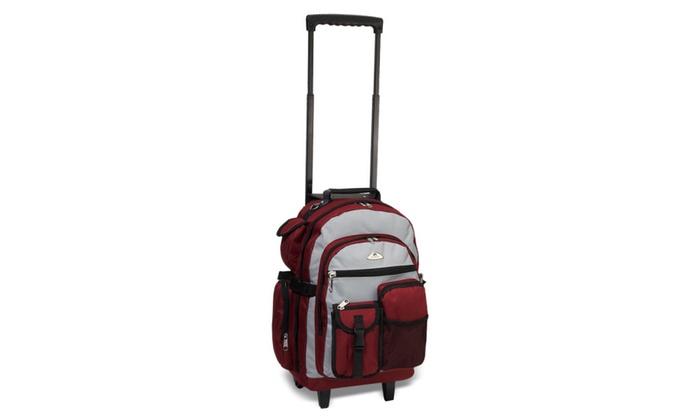 NileStores: Everest Deluxe Wheeled Backpack burgundy