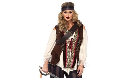 Leg Avenue Women's Captain Blackheart Set Sexy Plus Size Halloween Costume