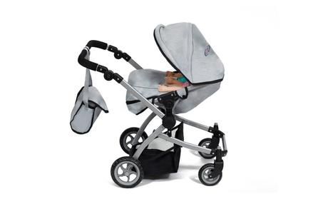 Cinderella USA Babyboo Deluxe Double Doll Stroller Gray & Black - Grey & Black 372dd0bb-a8e4-4d72-910c-b60e7712892b