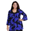 24/7 Comfort Apparel Women's Plus Size Swirling Print Tunic