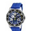 Invicta Reserve Quartz 3 Hand Black, Blue, Silver Dial Men's Watch