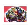 Dean Russo 'Profile Mastiff' Paper Art