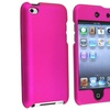 Insten Hot Pink Rubberized Hard Cover Case For iPod Touch 4th Gen 4G 4