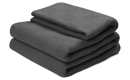 Cotton Throw Blankets (Queen/Full, Smoke Grey) 2ac6af4e-e593-4fa0-9d18-739a52b20c22